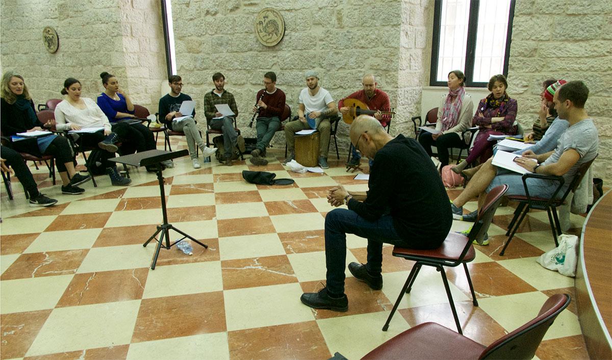 Rehearsal in Jerusalem.